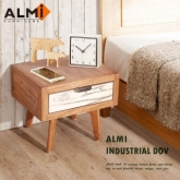 【ALMI】DOCKER VINTAGE-BEDSIDE 1 DRAWER 床頭櫃